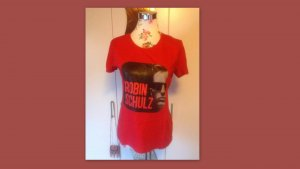 Camiseta estampada rojo