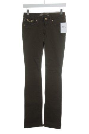 Robins Jeans Straight-Leg Jeans olivgrün Casual-Look