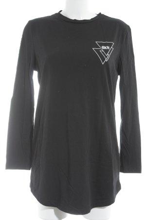 Rocawear Longsleeve schwarz-weiß Schriftzug gedruckt sportlicher Stil