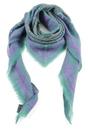 Rocco Barocco Foulard turquoise-violet imprimé allover style décontracté