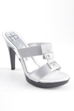 Rocco Barocco High Heel Sandal silver-colored metallic look