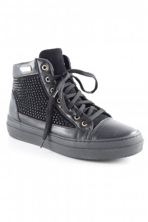Rocco Barocco High Top Sneaker schwarz Casual-Look