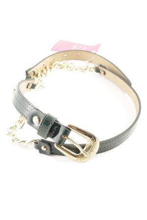 Rocco Barocco Cinturón de cadena color oro-caqui estilo extravagante