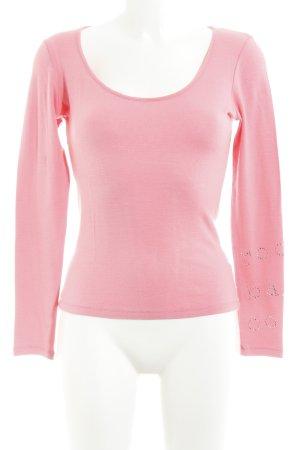 Rocco Barocco Longsleeve pink Casual-Look
