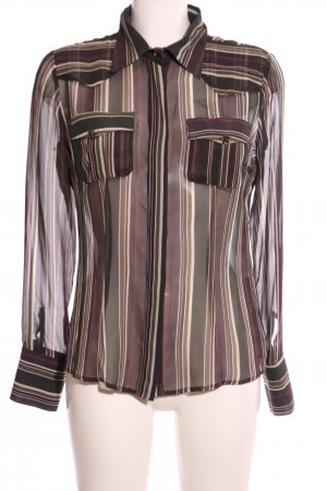 Rocco Barocco Transparent Blouse striped pattern business style