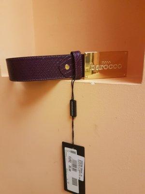 Rocco Barocco Leather Belt lilac