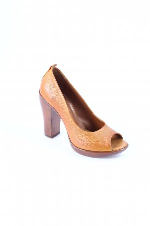 Rocco P. Peeptoe Pumps dunkelorange-braun Party-Look