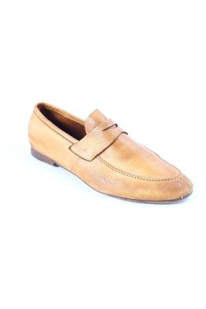 Rocco P. Zapatos sin cordones coñac look masculino