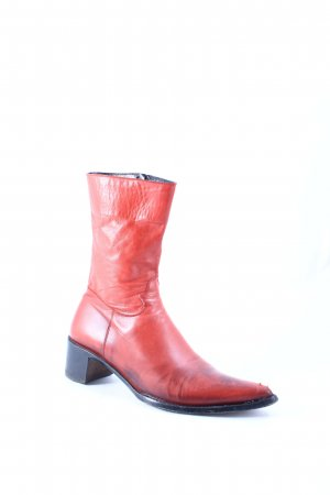 Rocco P. Western Booties red-brown red color gradient second hand look