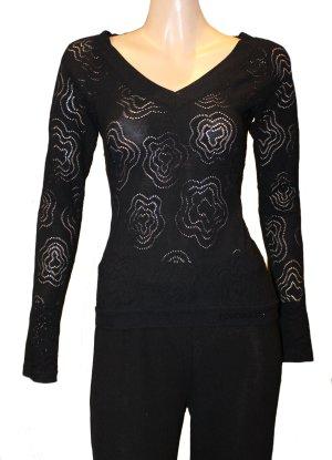 ROCCOBAROCCO Lace Pullover schwarz Gr. 36