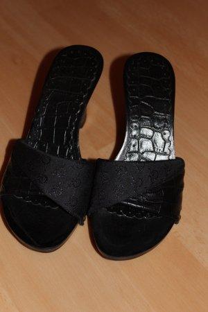 Roccobarocco Sandalen schwarz Damen Gr. 36 Wie NEU! Italien