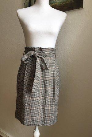 H&M Falda de talle alto gris-beige
