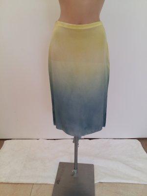 Cavalli Asymmetry Skirt yellow-pale blue new wool