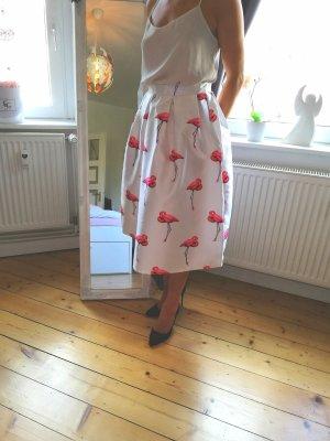 Chicwish Flared Skirt white
