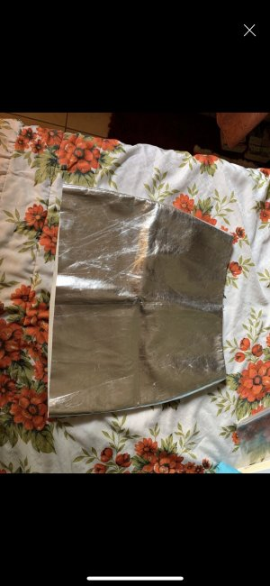 Leather Skirt silver-colored