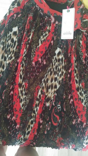 Maxi Skirt black brown-carmine