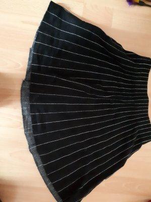 Zara Falda circular blanco-negro