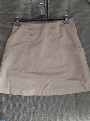 H&M Conscious Exclusive Falda asimétrica marrón grisáceo