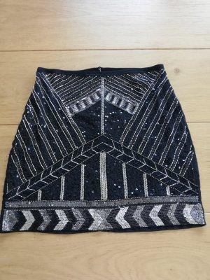 Orsay Mini-jupe noir-argenté