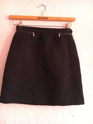 H&M Silk Skirt black