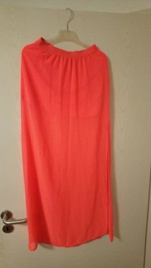 H&M Divided Maxi Skirt neon pink