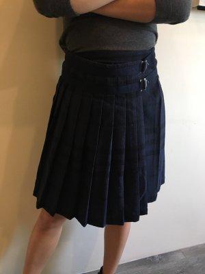 Burberry Wollen rok donkerblauw-zwart
