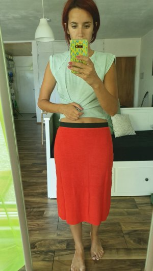 Best Connections Midi Skirt brick red
