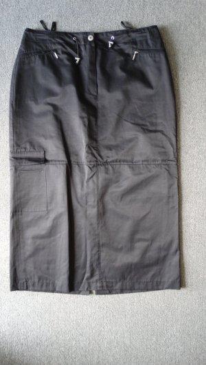 Bonita Pencil Skirt black-silver-colored mixture fibre