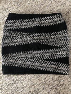 Stretch rok zwart-wit