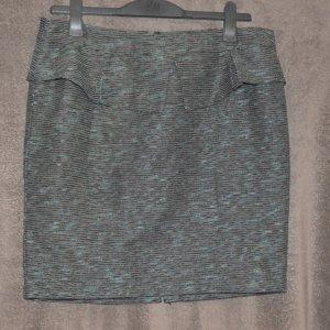 Orsay Falda de tul verde-azul oscuro tejido mezclado