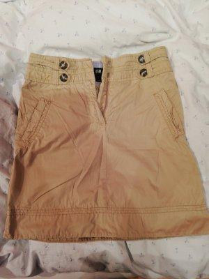 H&M Falda estilo cargo marrón oscuro-beige
