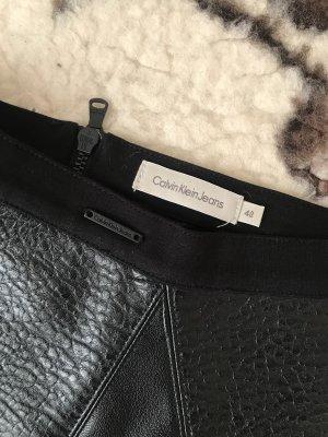 Calvin Klein Faux Leather Skirt black