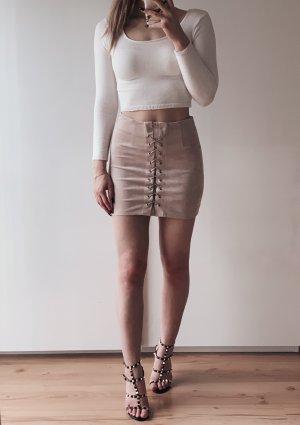 Asos Leather Skirt beige-cream