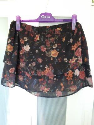 Clockhouse Silk Skirt black