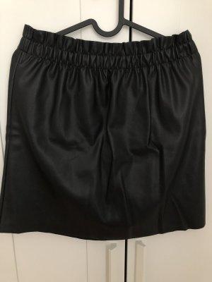 Laura Torelli Leather Skirt black