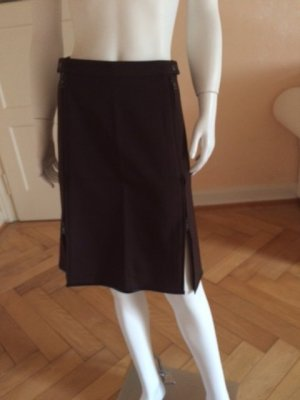 Prada Skirt dark brown-black mixture fibre