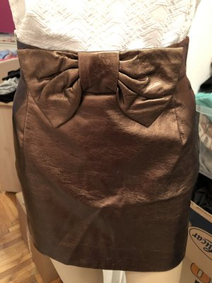 H&M Jupe taille haute bronze