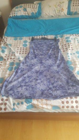 Jupe asymétrique bleu azur