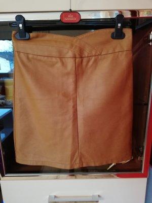 Amisu Falda de cuero de imitación marrón claro
