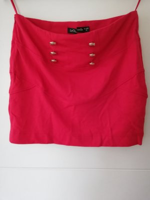 100% Fashion Mini-jupe rouge