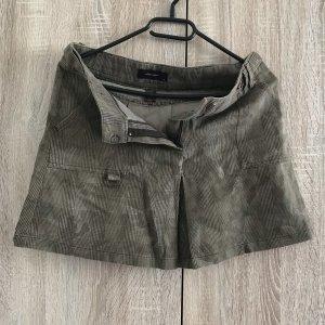 Midi Skirt olive green-grey brown