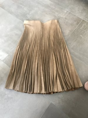 Topshop Pleated Skirt light brown