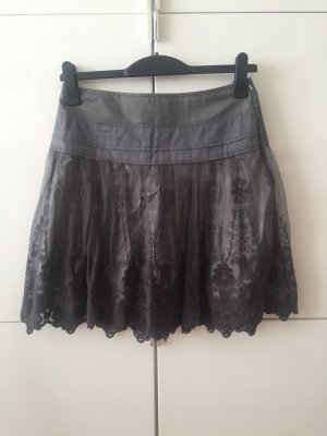 Promod Falda de encaje gris
