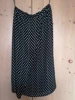 Rainbow Wraparound Skirt black-white polyester