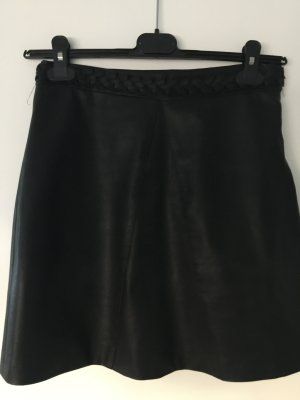 Amisu Falda de cuero de imitación negro Imitación de cuero
