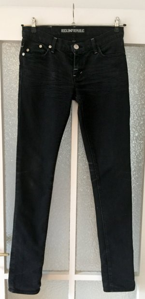 Rock and Republic Jeans schwarz 28 skinny