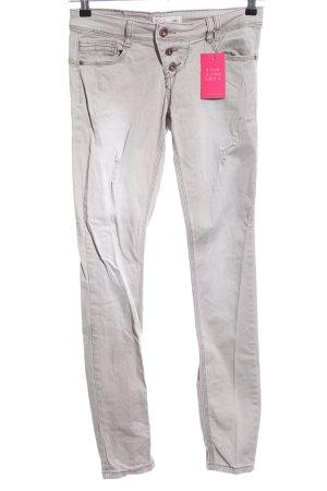 Rock angel Jeans stretch gris clair style décontracté