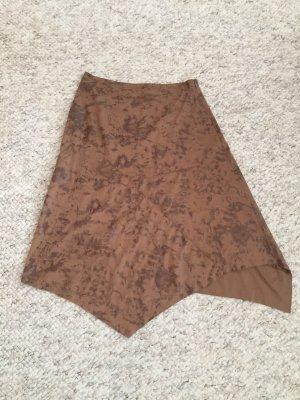 Rinascimento Falda asimétrica marrón-marrón claro
