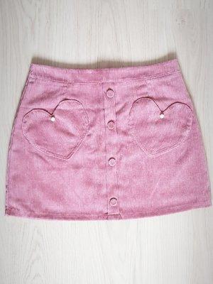 Pantalon en velours côtelé rose