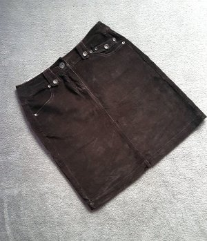 My Own Falda midi marrón oscuro-marrón Algodón